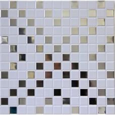 Кассетный потолок 300х300 мозайка белая