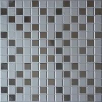 Кассетный потолок 300х300 мозайка серебристая