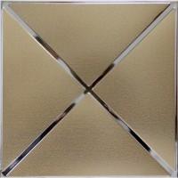 Кассетный потолок 300х300 объемное золото