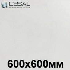 Кассетный потолок 600х600 белый матовый Cesal