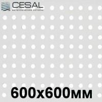 Кассетный потолок 600х600 белый матовый перфорированный