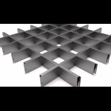 Грильято 100х100 металлик
