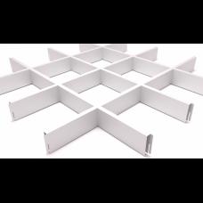 Грильято 150х150 белый матовый