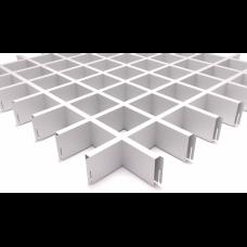 Грильято 75х75 белый матовый